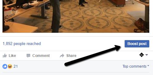 Boost Opslag Facebook Annoncering