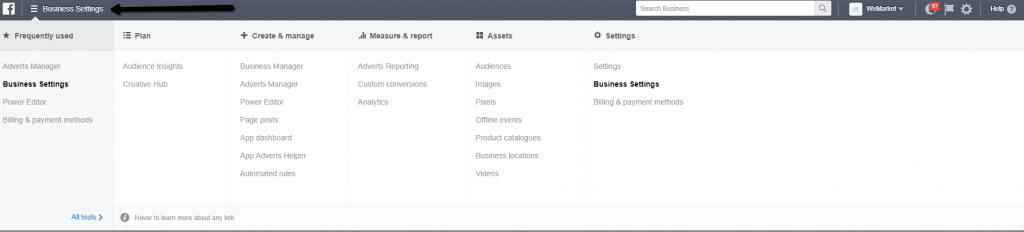facebook-business-manager-top-menu