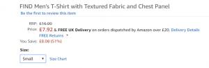 Amazon pris visning eksempel