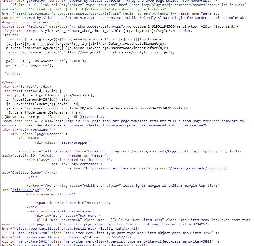 Kildekode eksempel
