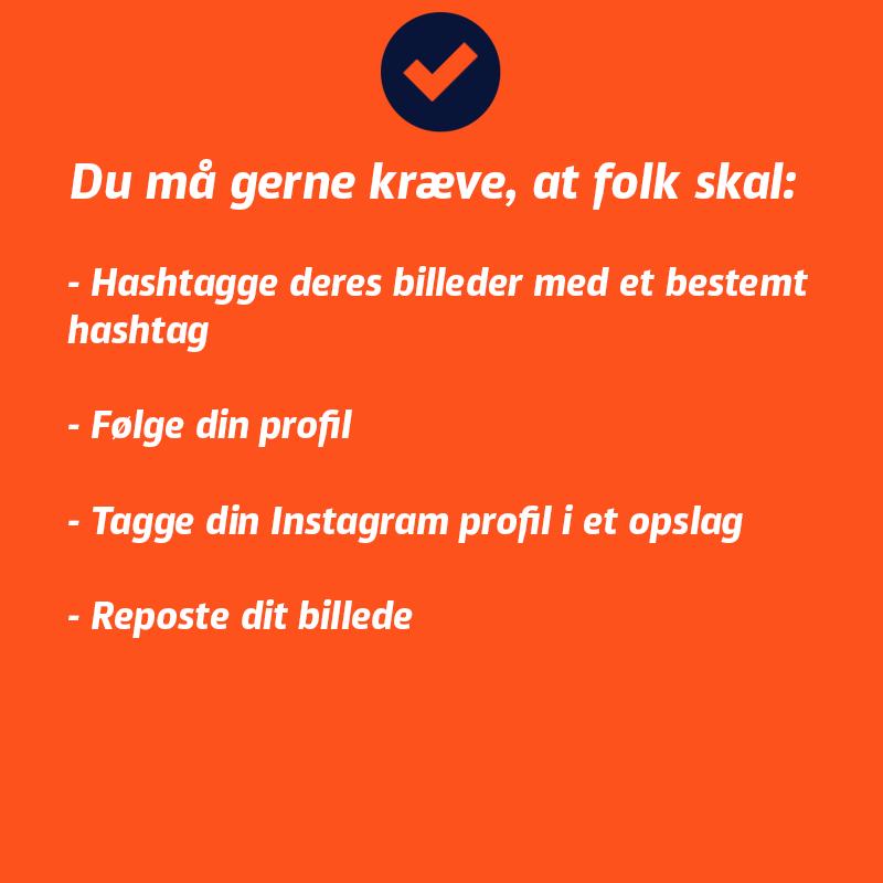Instagram konkurrenceregler - du må gerne