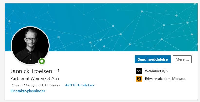 Et profilbillede på LinkedIn