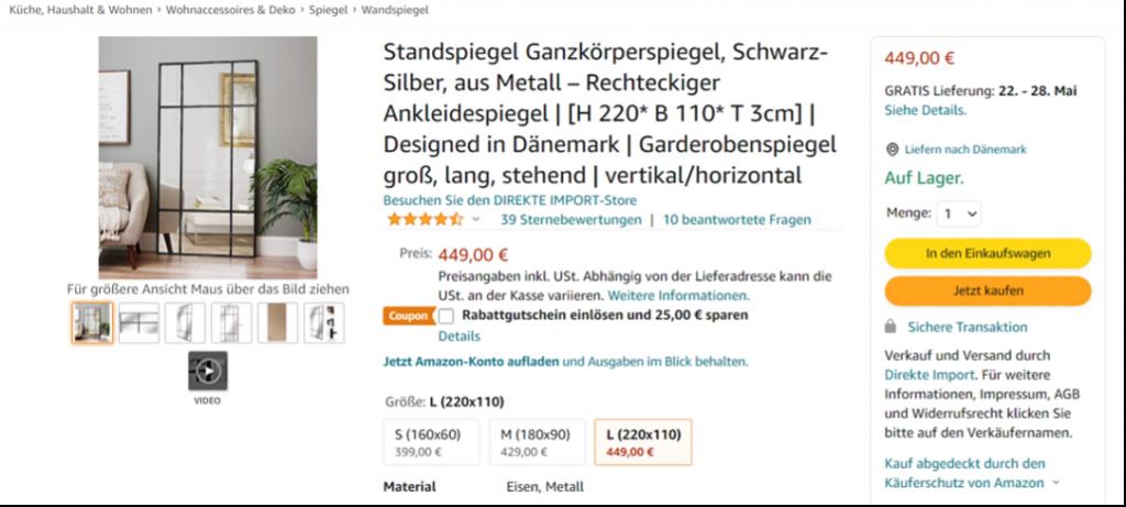 Amazon review eksempel